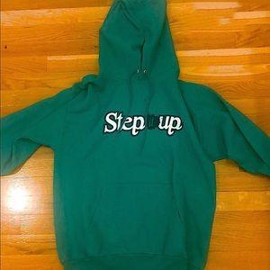 "Green ""Step it Up"" Hoodie Sz Medium"